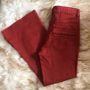 NWOT Free People red crop flare jeans size 25